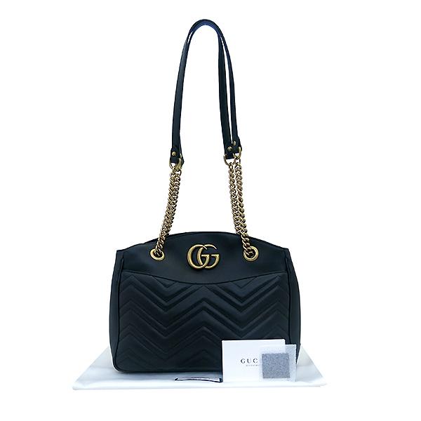Gucci(구찌) 443501 GG마몽트 블랙 레더 체인 숄더백 [부산센텀본점]
