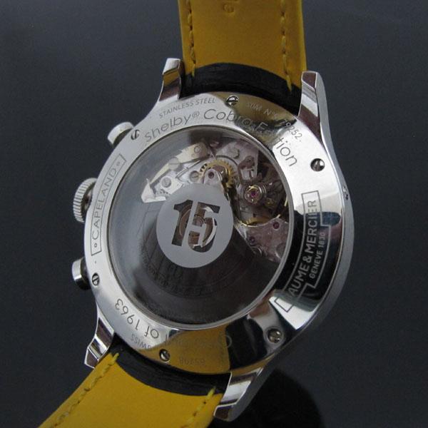 Baume&Mercier(보메 메르시에) M0A10282 쉘비 코브라 Limited edition 1963 블랙 & 옐로우 가죽밴드 남성용 시계 [대구동성로점] 이미지5 - 고이비토 중고명품