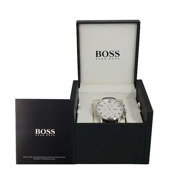 Hugo Boss(휴고보스) 1512447 라운드 크로노그래프 쿼츠 가죽 밴드 남성용 시계 [동대문점]