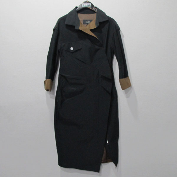 Time(타임) 블랙 컬러 여성용 코트 [대구반월당본점]