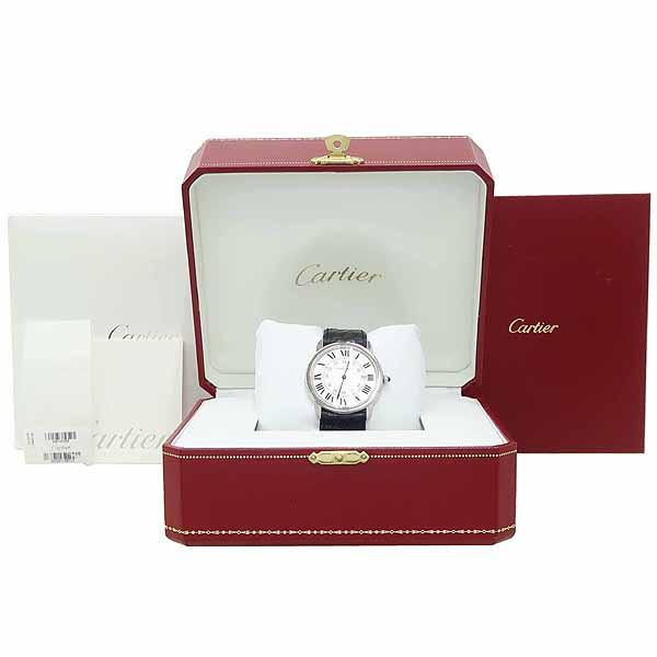 Cartier(까르띠에) W6700255 롱드 솔로 드 까르띠에 L 사이즈 가죽밴드 쿼츠 남성용 시계 [강남본점]