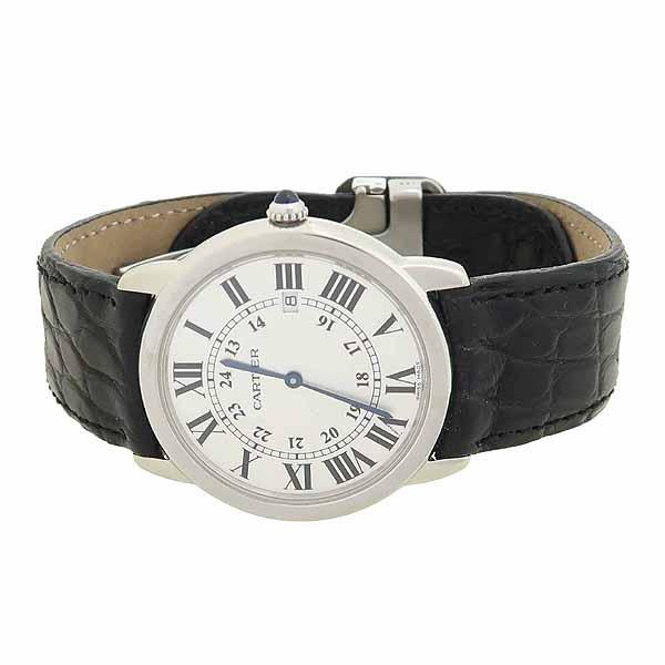 Cartier(까르띠에) W6700255 롱드 솔로 드 까르띠에 L 사이즈 가죽밴드 쿼츠 남성용 시계 [강남본점] 이미지2 - 고이비토 중고명품