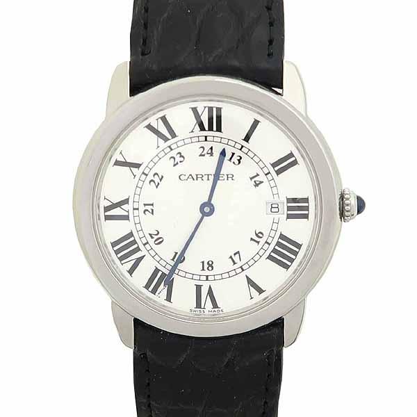 Cartier(까르띠에) W6700255 롱드 솔로 드 까르띠에 L 사이즈 가죽밴드 쿼츠 남성용 시계 [강남본점] 이미지5 - 고이비토 중고명품