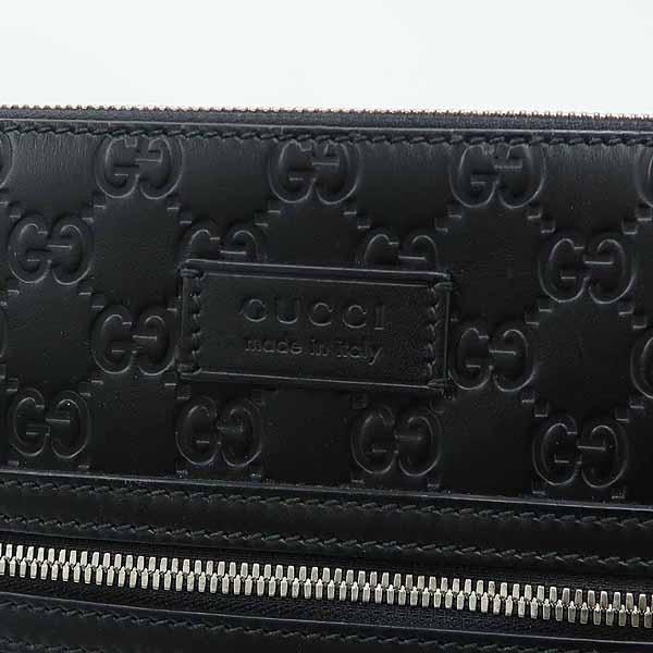 Gucci(구찌) 406408 블랙 레더 구찌 시그니처 남성용 크로스백 [강남본점] 이미지4 - 고이비토 중고명품