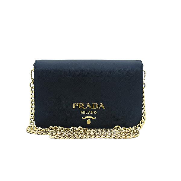 Prada(프라다) 1BP006 SAFFIANO LUX 사피아노 럭스 블랙 컬러 미니 체인 크로스백 [부산센텀본점] 이미지2 - 고이비토 중고명품