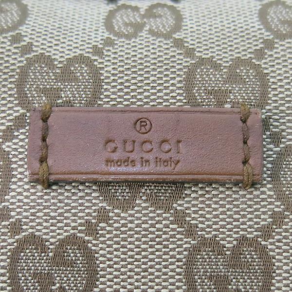 Gucci(구찌) 353399 GG로고 자가드 브라운레더 혼방 호보 크로스백 [부산센텀본점] 이미지4 - 고이비토 중고명품