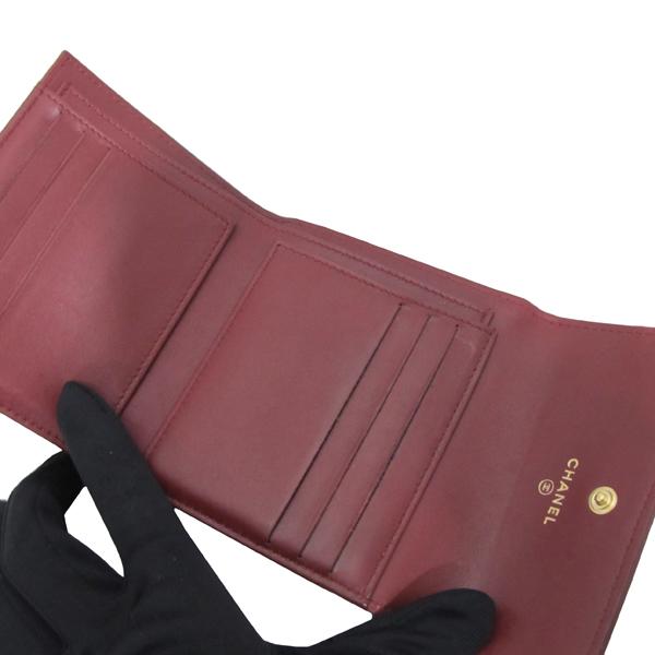 Chanel(샤넬) A84068Y 와인 컬러 램스킨 보이 샤넬 S 사이즈 반지갑 [대구반월당본점] 이미지4 - 고이비토 중고명품