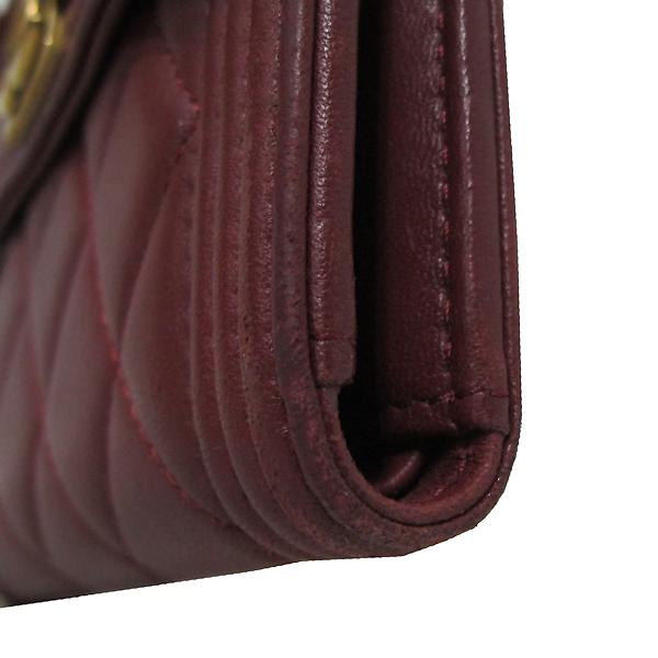 Chanel(샤넬) A84068Y 와인 컬러 램스킨 보이 샤넬 S 사이즈 반지갑 [대구반월당본점] 이미지5 - 고이비토 중고명품