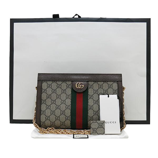 Gucci(구찌) 503877 GG 슈프림 캔버스 Web 스트라이프 2018 크루즈 컬렉션 더블 G 메탈 장식 금장 체인 숄더백 [인천점]