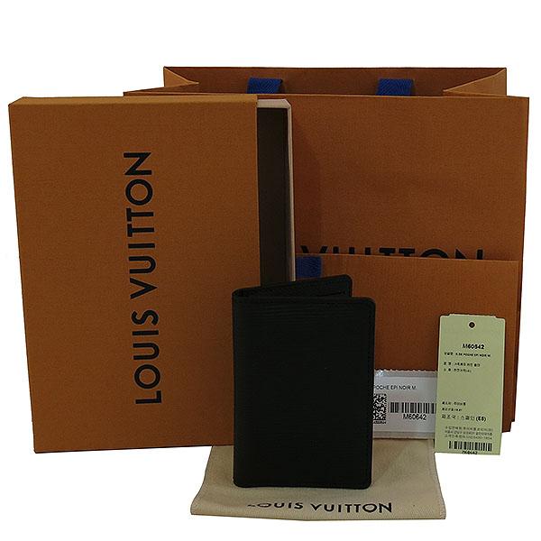 Louis Vuitton(루이비통) M60642 에삐 블랙 레더 포켓 오거나이저 카드 지갑 [대구동성로점]
