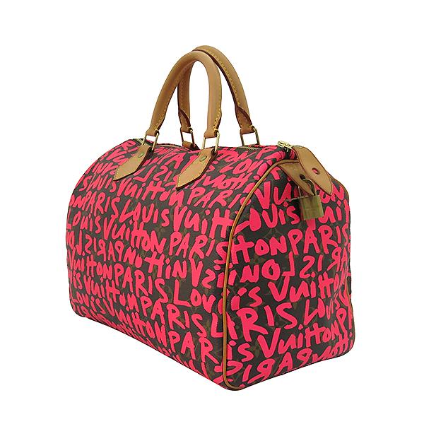 Louis Vuitton(루이비통) M93705 크루즈 라인 모노그램 캔버스 그래피티 스피디30 토트백 [부산센텀본점] 이미지2 - 고이비토 중고명품