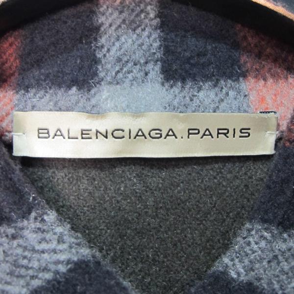 Balenciaga(발렌시아가) 100% 울 체크 오버사이즈 셔츠 자켓 [대구반월당본점] 이미지5 - 고이비토 중고명품