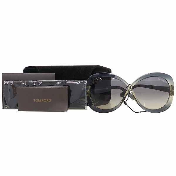 TOMFORD(톰포드) TF226 그레이 컬러 측면 금장 로고 장식 뿔테 선글라스 [강남본점]