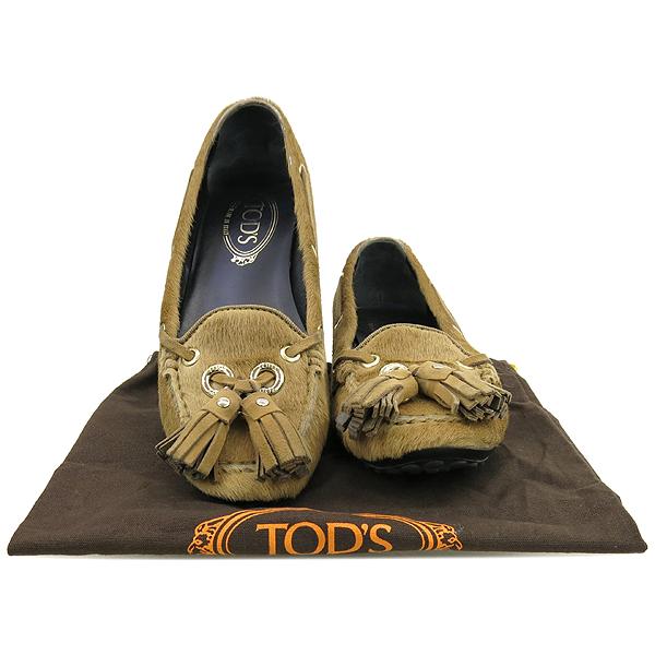 Tod's(토즈) 베이지컬러 송치 테슬디테일 보트 여성용 슈즈 [강남본점]