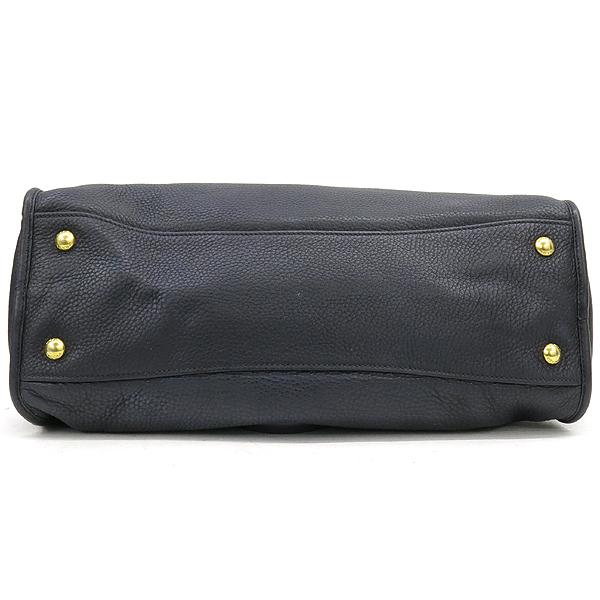 Prada(프라다) BL0805 VIT.DAINO NERO 블랙 컬러 레더 금장 로고 장식 토트백 + 숄더스트랩 2WAY [강남본점] 이미지4 - 고이비토 중고명품