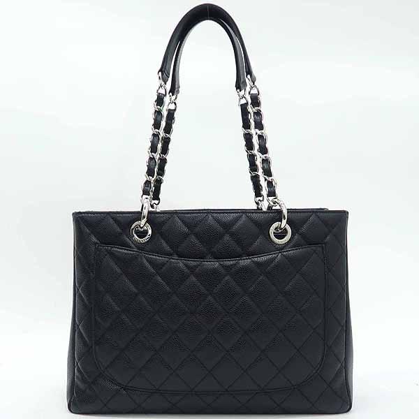 Chanel(샤넬) A50995 캐비어스킨 블랙 그랜드샤핑 은장 로고 체인 숄더백 [강남본점] 이미지3 - 고이비토 중고명품