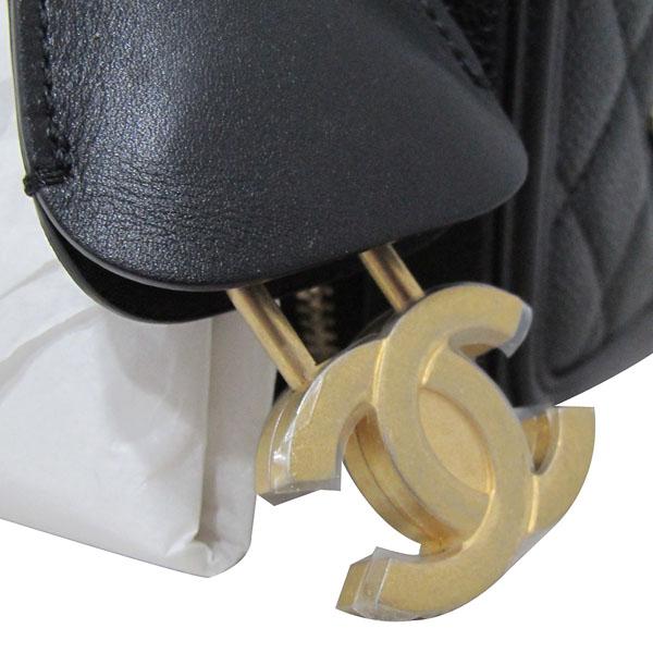 Chanel(샤넬) A93342Y60542 블랙 캐비어스킨 금장 체인 스몰 코스메틱 케이스 토트 겸 숄더백 [대구동성로점] 이미지5 - 고이비토 중고명품
