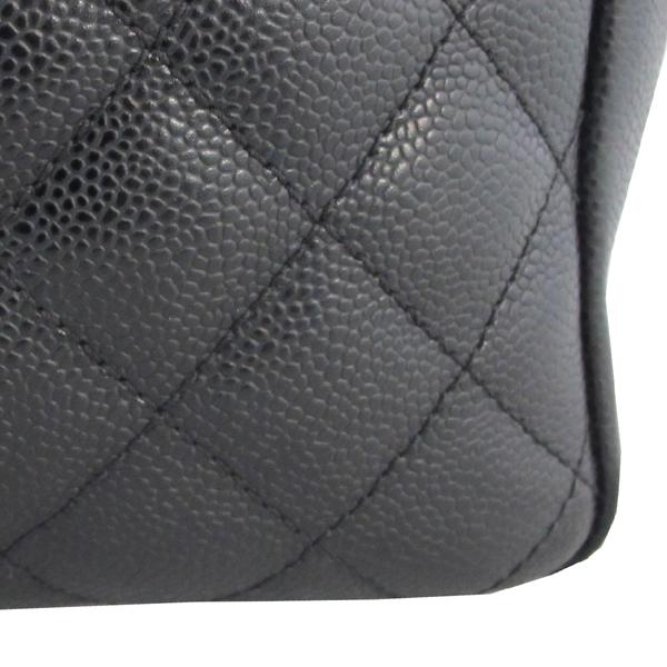 Chanel(샤넬) A50995 캐비어스킨 블랙 그랜드샤핑 COCO스티치 은장 메탈 체인 숄더백 [대구동성로점] 이미지4 - 고이비토 중고명품