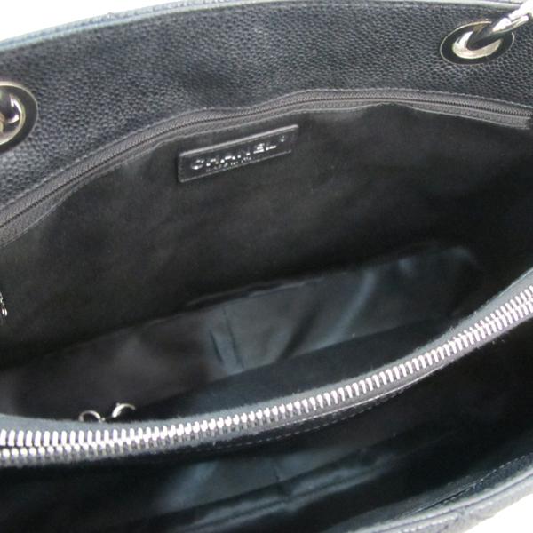 Chanel(샤넬) A50995 캐비어스킨 블랙 그랜드샤핑 COCO스티치 은장 메탈 체인 숄더백 [대구동성로점] 이미지5 - 고이비토 중고명품
