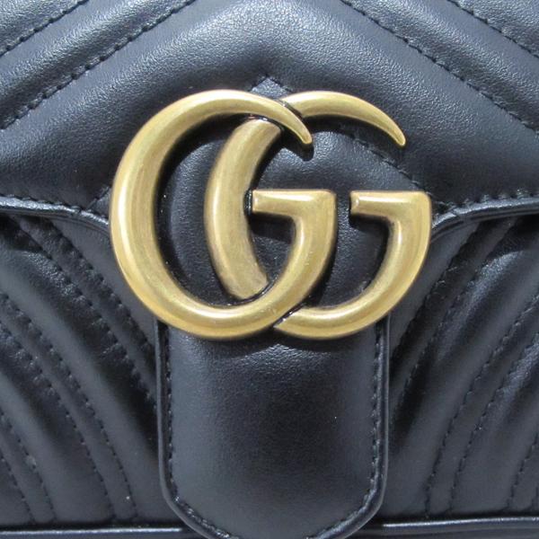 Gucci(구찌) 446744 GG마몬트 블랙 마틀라세 금장 미니 체인 숄더백 [대구반월당본점] 이미지4 - 고이비토 중고명품
