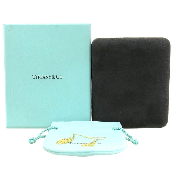Tiffany(티파니) 18K(750) 옐로우 골드 ELSA PERETI(엘사 퍼레티) 1포인트 다이아 스몰 사이즈 메쉬 이어링 귀걸이 [강남본점]