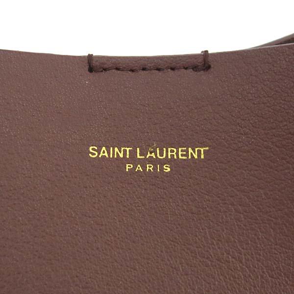 SAINT LAURENT PARIS(생로랑파리) 394195 버건디 컬러 CALF 쇼퍼 숄더백 + 보조파우치 [동대문점] 이미지4 - 고이비토 중고명품