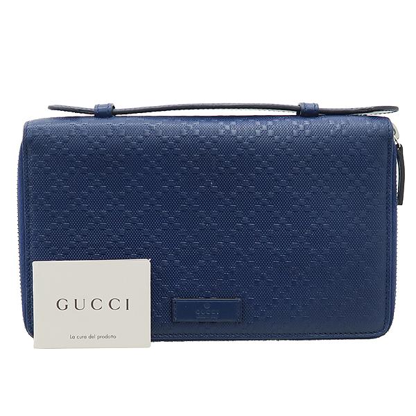 Gucci(구찌) 395474 블루 컬러 DIAMANTE(디아망떼) 레더 클러치 겸 트래블 백 [강남본점]
