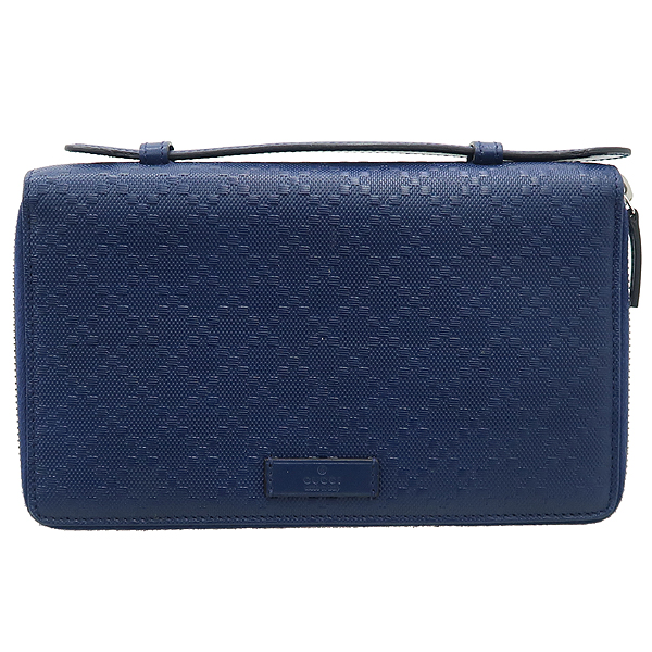 Gucci(구찌) 395474 블루 컬러 DIAMANTE(디아망떼) 레더 클러치 겸 트래블 백 [강남본점] 이미지2 - 고이비토 중고명품