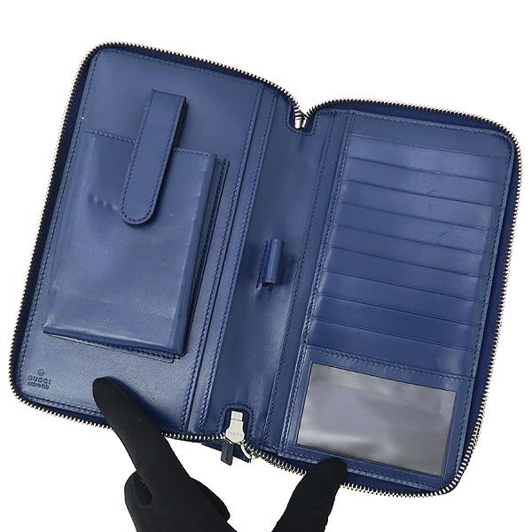 Gucci(구찌) 395474 블루 컬러 DIAMANTE(디아망떼) 레더 클러치 겸 트래블 백 [강남본점] 이미지3 - 고이비토 중고명품