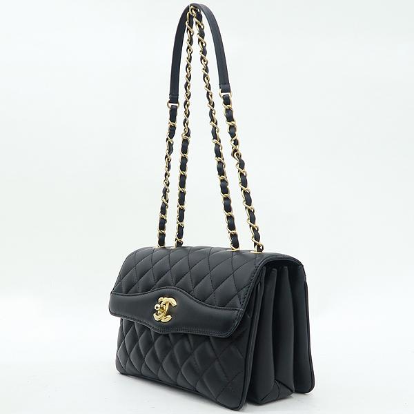 Chanel(샤넬) A57028 크루즈 블랙 램스킨 플랩 체인 숄더백 [강남본점] 이미지3 - 고이비토 중고명품