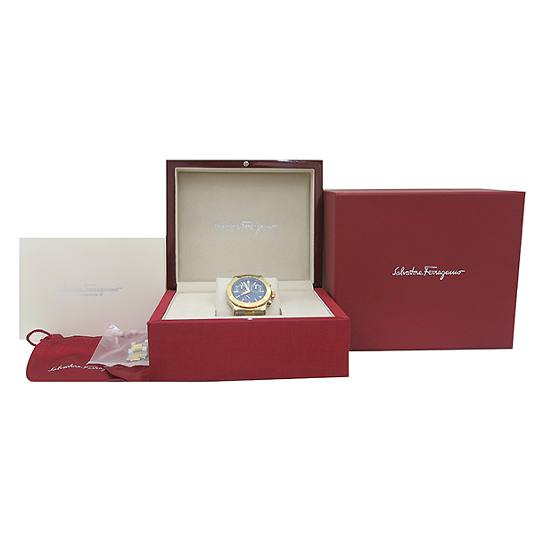 Ferragamo(페라가모) SFH6004 옐로우골드 간치노 로고 도금 콤비 40MM 남성용 시계 [부산센텀본점]