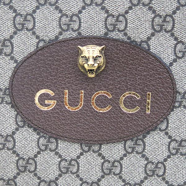 Gucci(구찌) 473956 네오 빈티지 GG로고 PVC 수프림 금장 타이거 로고장식 클러치백 [부산센텀본점] 이미지4 - 고이비토 중고명품
