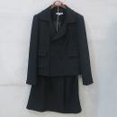 CARVEN(까르뱅) 블랙 컬러 울 혼방 여성용 자켓 + 스커트 SET [부산센텀본점]