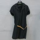 Time(타임) 블랙 컬러 레이온 코튼 혼방 여성용 원피스 + 벨트 SET [부산센텀본점]