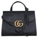 Gucci(구찌) 421890 블랙 레더 GG Marmont(마몬트) 금장 로고 토트백 + 숄더스트랩 2WAY [대구 대백프라자점]