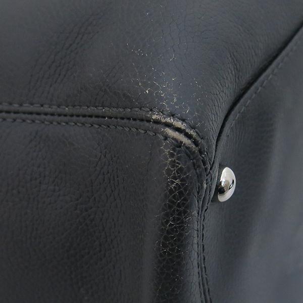 Chanel(샤넬) A15206 카프스킨 다크 그레이 COCO 메탈 은장로고 서프 토트백 + 숄더스트랩 2WAY [부산센텀본점] 이미지5 - 고이비토 중고명품