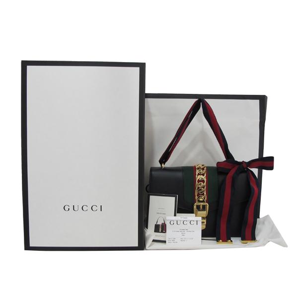 Gucci(구찌) 421882 Gucci Sylvie 실비 블랙 레더 리본 토트백 [대구반월당본점]