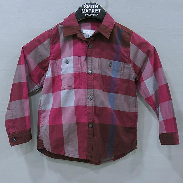 Burberry(버버리) 3975721 CHILDREN(칠드런) 핑크 체크 아동용 긴팔 셔츠 - 4Y [부산센텀본점]