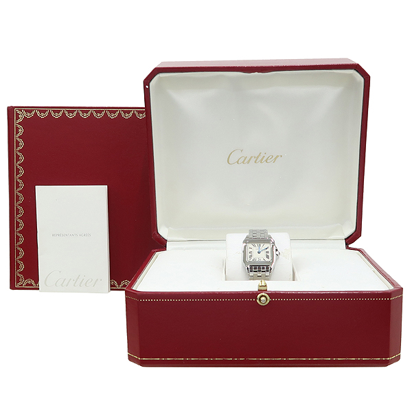 Cartier(까르띠에) W25064Z5 산토스 드모아젤 S 사이즈 스틸 여성용 시계 [강남본점]