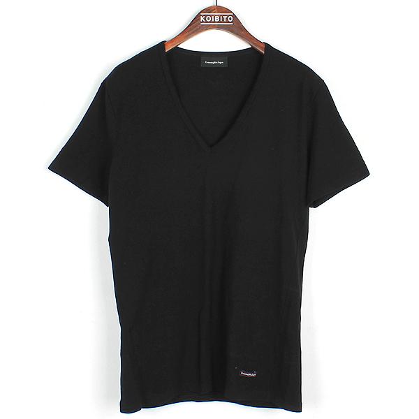 Zegna(제냐) 블랙 컬러 면 혼방 V넥 티셔츠 [강남본점]