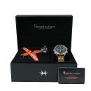 HAMILTON(해밀턴) H77796535 Khaki Aviation(카키 에비에이션) 45MM 리미티드 에디션 데이 데이트 엑스윈드 크로노그래프 오토매틱 남성용 가죽밴드 시계 [대구동성로점]