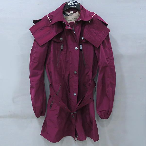 Burberry(버버리) 브릿라인 퍼플 컬러 바람막이 여성용 트렌치 코트 [부산센텀본점]