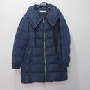 Prada(프라다) 네이비 컬러 카라 셔링 장식 여성용 패딩 점퍼 [대구반월당본점]