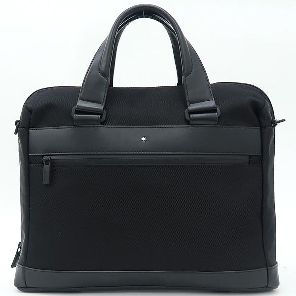 Montblanc(몽블랑) 블랙 패브릭 레더 트리밍 노트북 케이스 겸 서류가방 [강남본점]