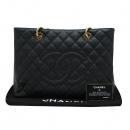 Chanel(샤넬) A50995Y01588 캐비어스킨 블랙 그랜드샤핑 금장 로고 체인 숄더백  [인천점]