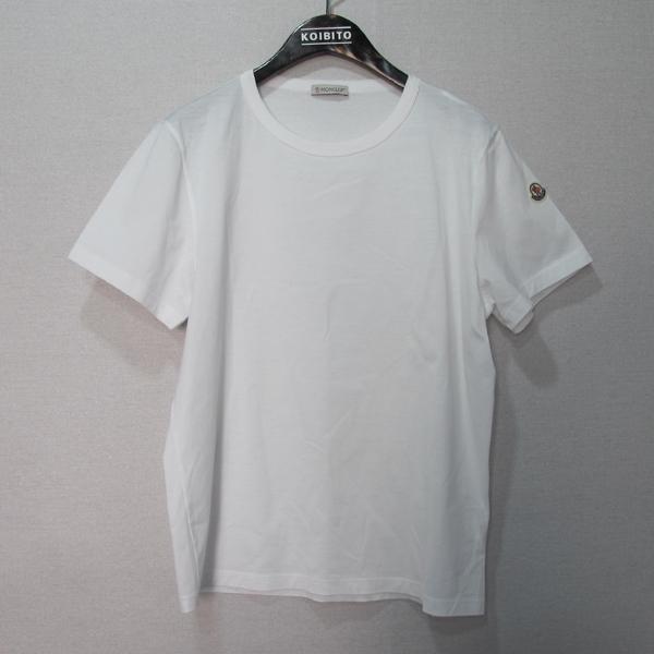 MONCLER(몽클레어) T SHIRT 화이트 측면 로고 패치 여성용 반팔 티셔츠 [대구반월당본점]