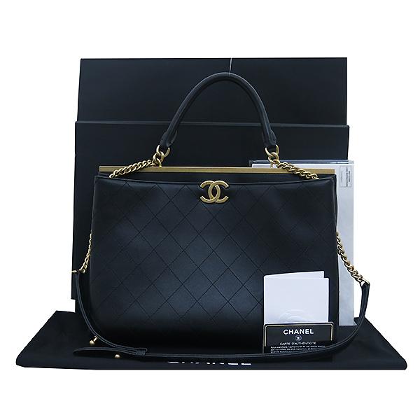 Chanel(샤넬) A57089 Y1047794305 블랙 컬러 금장 코코 로고 Luxe Large 2WAY [부산센텀본점]