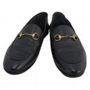 Gucci(구찌) 414998 블랙 컬러 레더 금장 홀스빗 슬리퍼 + 로퍼 [대구반월당본점]