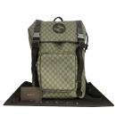 Gucci(구찌) 246321 GG 로고 PVC 브라운 레더 트리밍 인터로킹 G 로고 러버 백팩 [동대문점]