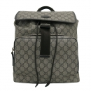Gucci(구찌) 246103 GG로고 PVC 슈프림 캔버스 브라운 레더 트리밍 원 포켓 백팩 [부산센텀본점]